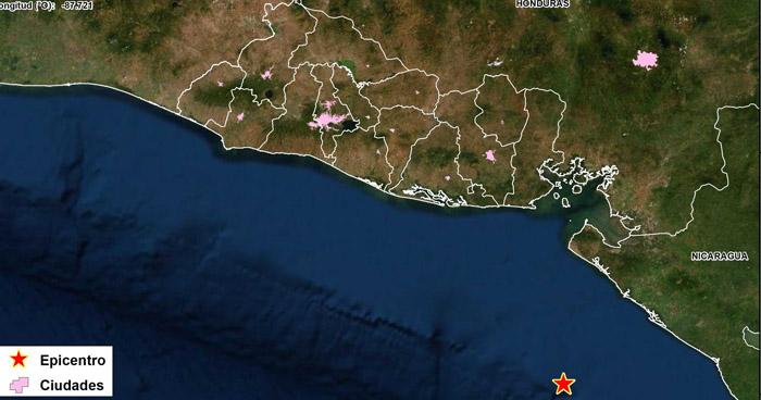Sismo frente a la costa de Nicaragua sacudió parte de El Salvador este lunes