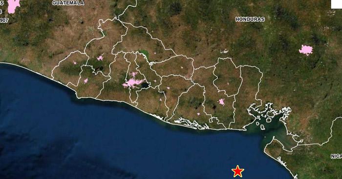 Sismo de 4.4 sacudió este sábado la costa de La Unión