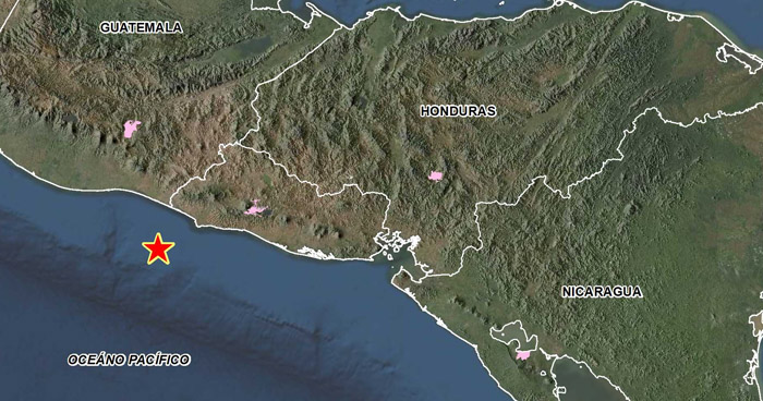 Sismo de 4.3 sacudió esta tarde parte de la costa de Ahuachapán