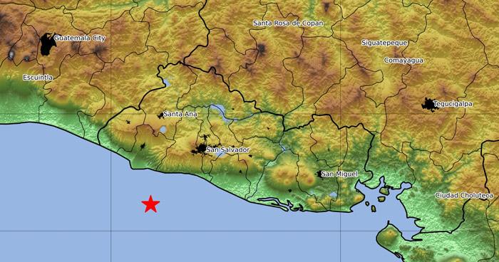 Sismo de 3.6 sacudió este martes la costa de La Libertad