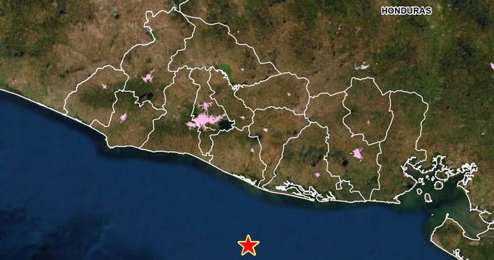 Sismo de 4.0 sacudió esta mañana la costa de San Vicente