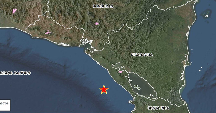 Sismo de 5.6 frente a la costa de Nicaragua fue percibido por salvadoreños