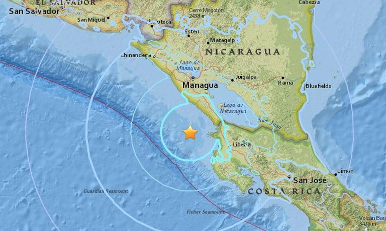 Sismo de 5.8 se registra en Nicaragua
