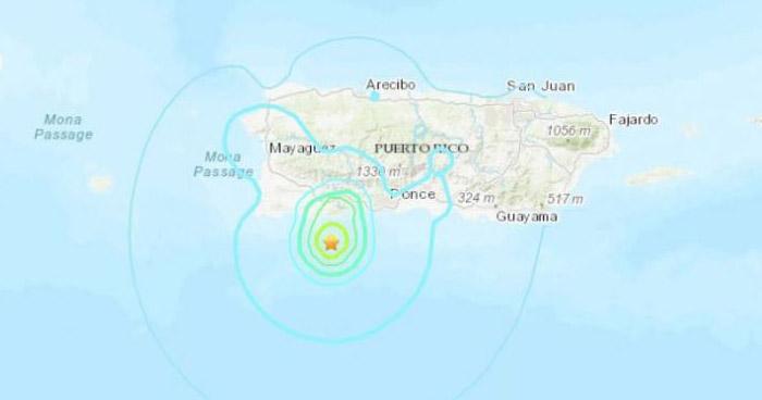 Sismo de 5.0 sacudió esta mañana a Puerto Rico