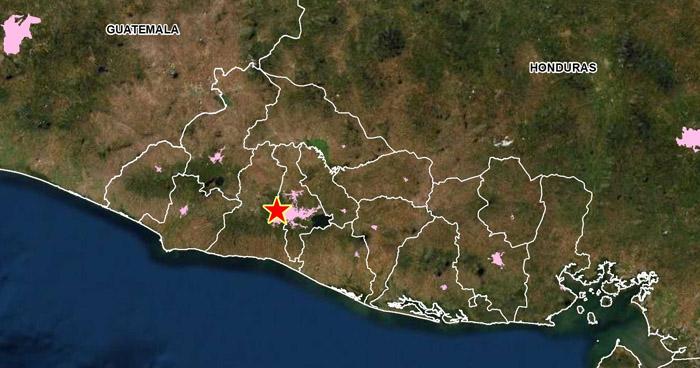 Sismo de 2.5 sacudió esta tarde el municipio de Santa Tecla