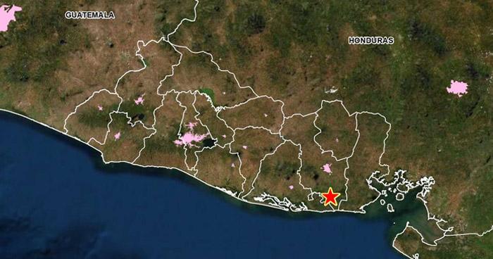 Sismo de 2.6 sacudió esta tarde el municipio de Chirilagua, San Miguel