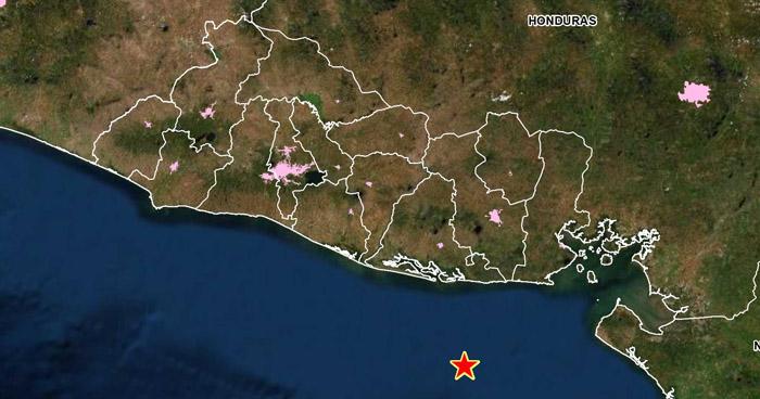 Sismo de 4.5 sacudió esta mañana la costa de Usulután