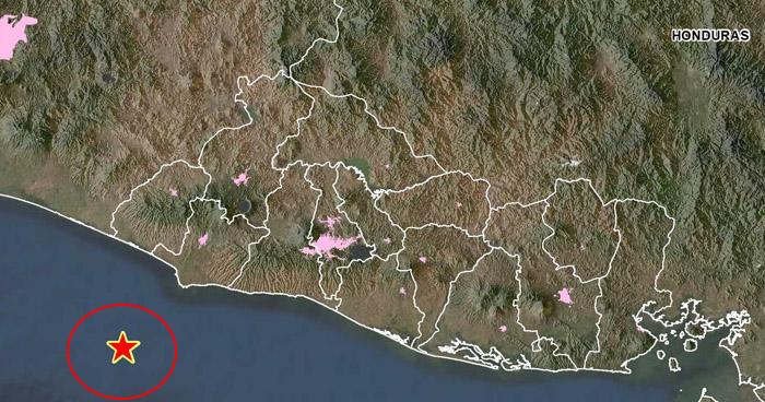 Sismo de 4.0 sacudió esta madrugada la costa de Sonsonate