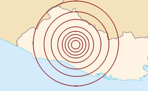 Sensible sismo de 2.9 grados en San Salvador esta madrugada