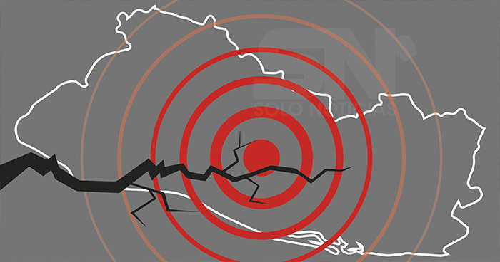 Sismo de 4.8 sacudió territorio salvadoreño esta mañana de lunes