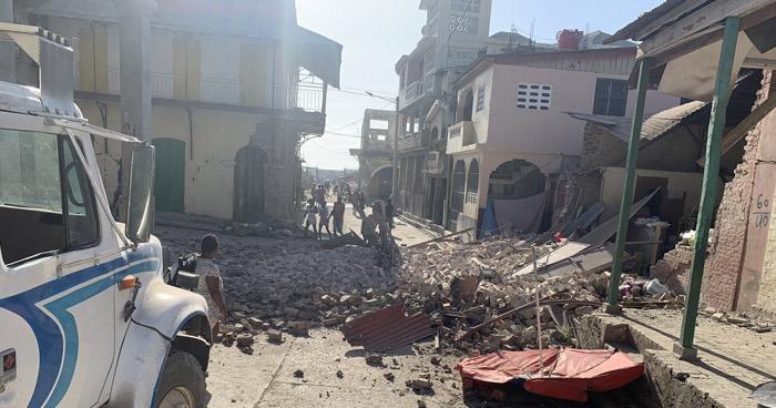 Terremoto de 7.2 acudió esta sábado el suroeste de Haití