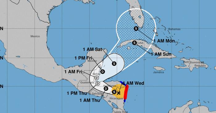 Tormenta tropical Eta se debilitará a Depresión Tropical sobre Honduras