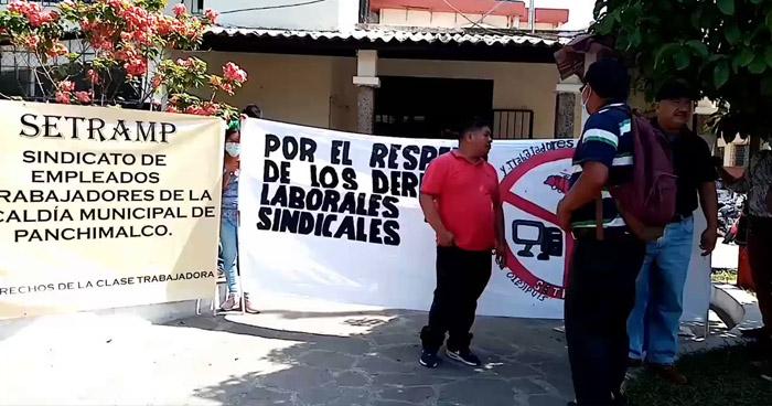 Trabajadores de la alcaldía de Panchimalco denuncian más de 40 despidos
