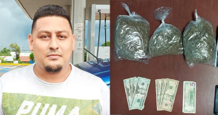Capturan a pandillero cuando distribuía droga en Santa Ana