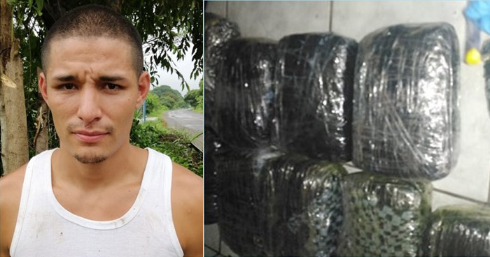 Detención preventiva para traficante de droga en Ahuachapán