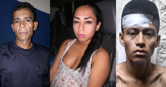 Mujer y dos hombres capturados en San Salvador por trafico de drogas