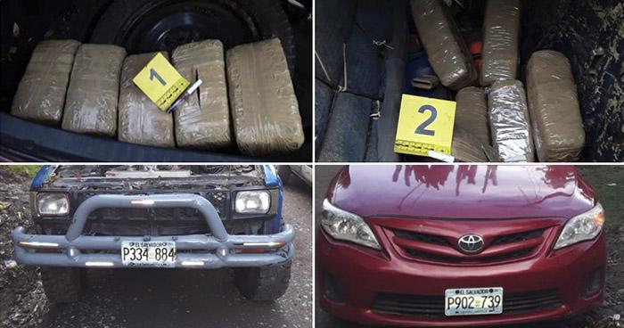 Ocultaban paquetes de droga en compartimientos de dos vehículos