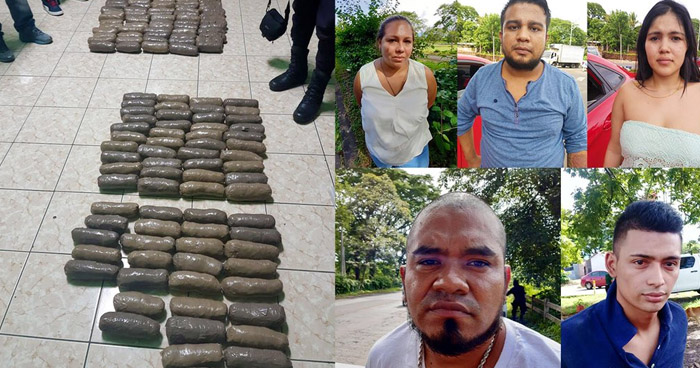 Capturan a 5 miembros de la MS con $32 mil en droga