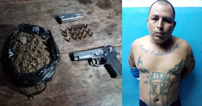Capturan a pandillero cuando distribuía droga en Ahuachapán