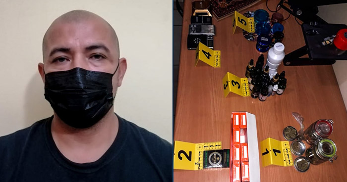 Capturan a traficante de drogas que operaba en San Juan Opico, La Libertad