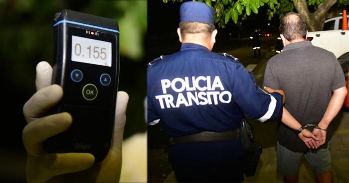 Detienen a hombre por conducir con 155 mg/dl de alcohol