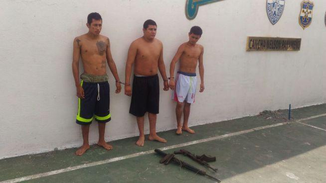 Captura a tres sujetos tras enfrentamiento con la PNC