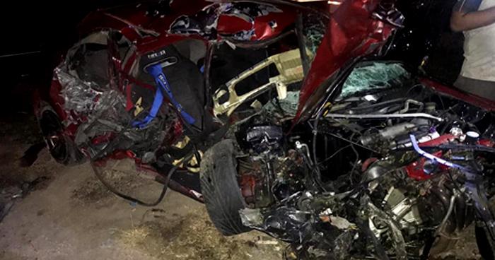 Grave accidente de transito en la carretera Ruta Militar de San Miguel