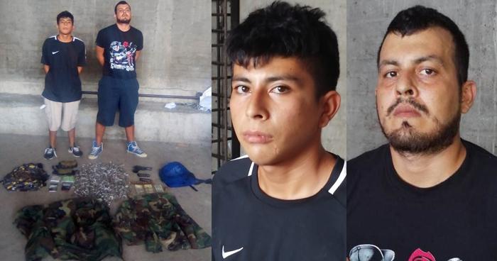 Incautan uniformes tipo militar, droga y armas a pandilleros en Metapán