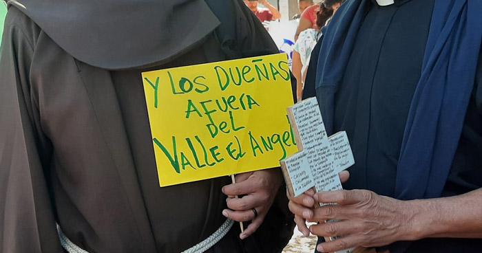 """Protestan contra la ejecución del proyecto """"Valle el Ángel"""""""