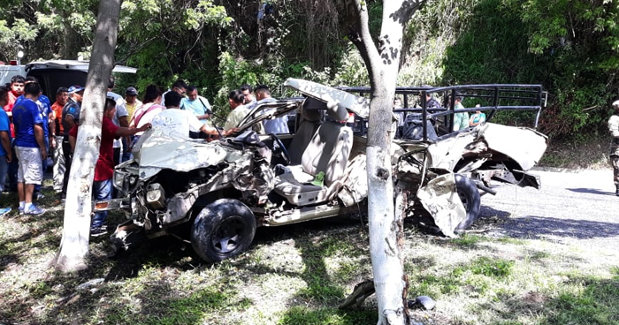 Conductor muere al chocar contra un árbol sobre carretera Panamericana