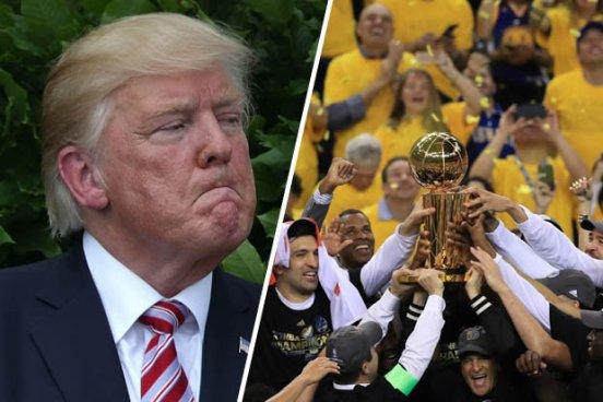 Los Warriors se rehusaran a visitar la Casa Blanca por Trump