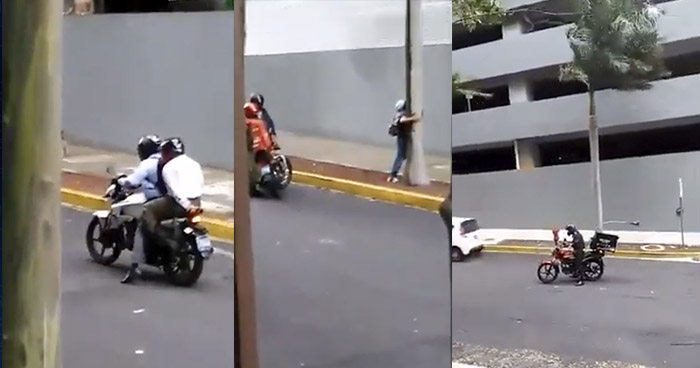 VIDEOS | Fuertes ráfagas de viento detienen marcha de motociclistas y peatones en San Salvador