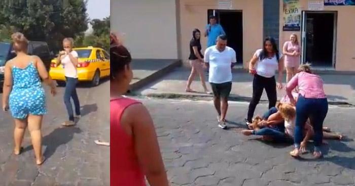 VÍDEO VIRAL: Mujeres borrachas se pelean en plena calle en San Miguel
