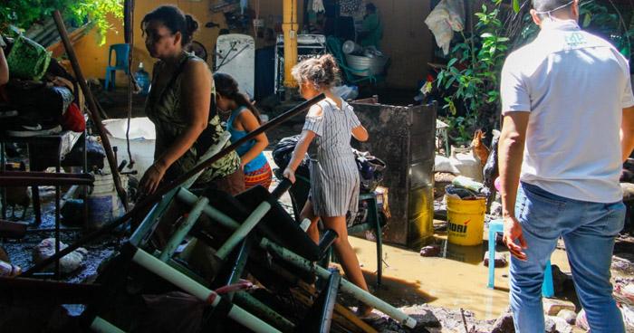 Varias viviendas resultaron dañadas en el oriente del país tras últimas lluvias