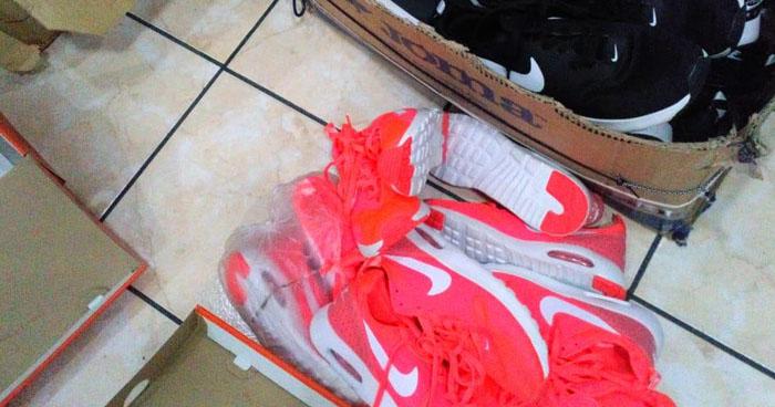 Incautan más de 2,000 pares de zapatos por falsificación de marcas