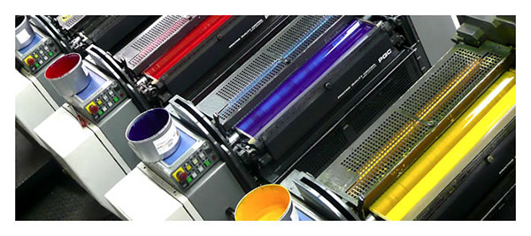 lithographic printing image of CMYK inks