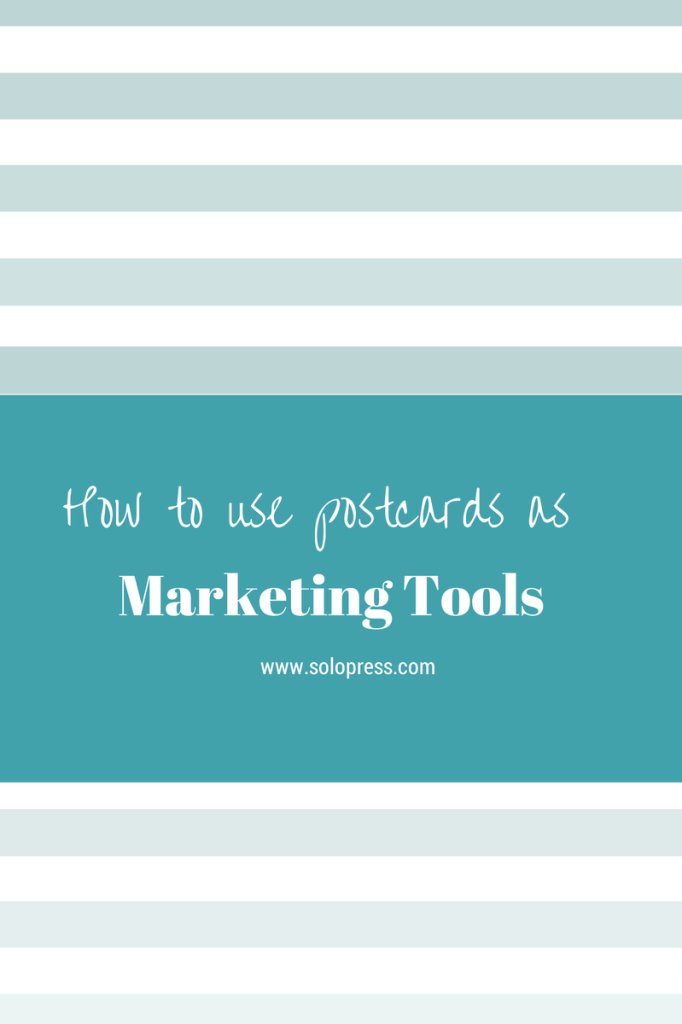'how to use postcards as a marketing tool' featured image header and banner