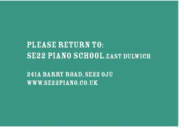 London SE22 Piano School sticker printing feature in Solopress Spotlight news blog