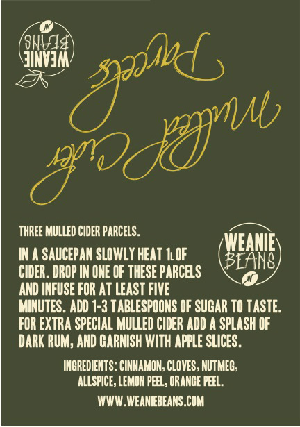 Weanie Beans Mulled Cider labels were printed by Solopress