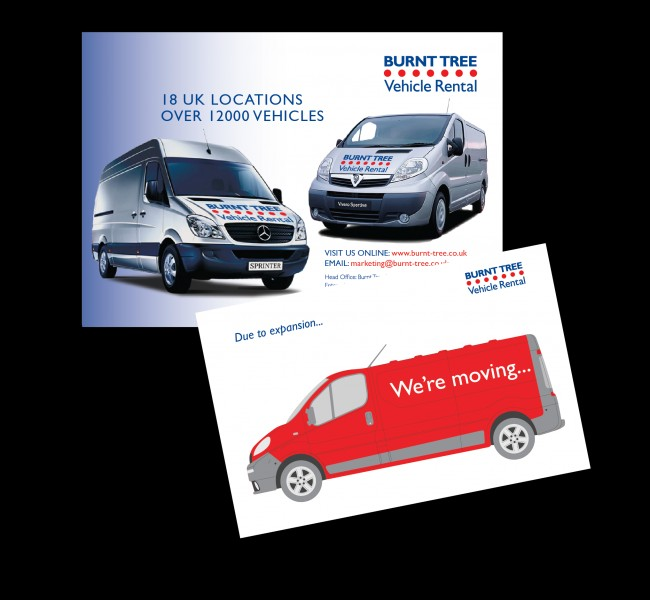 Solopress printed these A5 and A7 silk flyers for Sixth Story and Burnt Tree vehicle rental