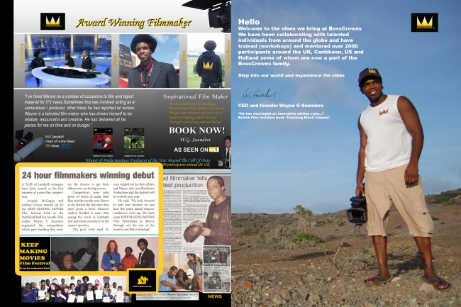 Solopress print the brochures for award winning TV documentary maker Wayne G Saunders
