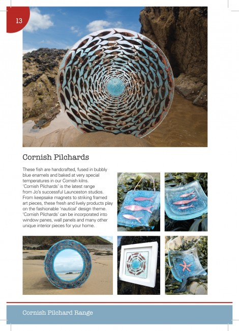 Cornish Pilchards A5 Gloss Brochures printed by Solopress for Jo Downs Handmade Glass
