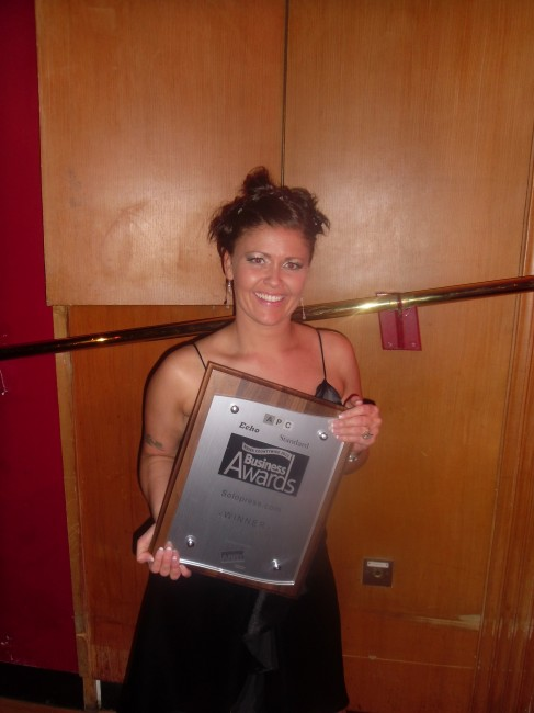 Paula - Solopress Essex Growing Business Award 2012