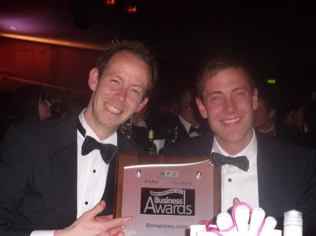 Steve and Paul - Solopress Essex Growing Business Award 2012