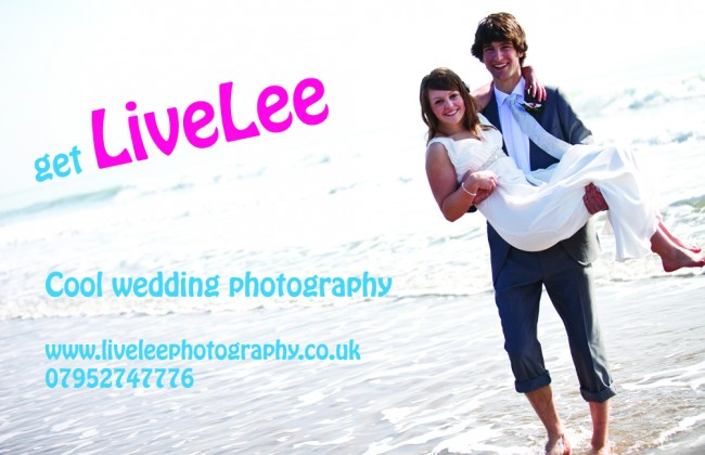 Livelee Wedding Photography matt laminated business cards printed by Solopress