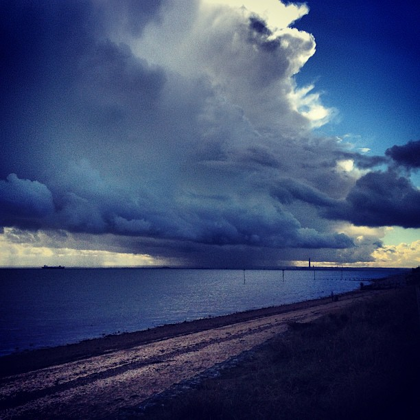 Shoebury Beach Storm Instagram photo Copyright Solopress 2012