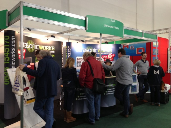 Ultrasonic Works exhibition stand at London Boat Show 2013