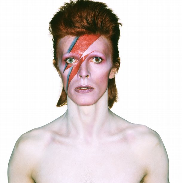 David Bowie album cover shoot for Aladdin Sane