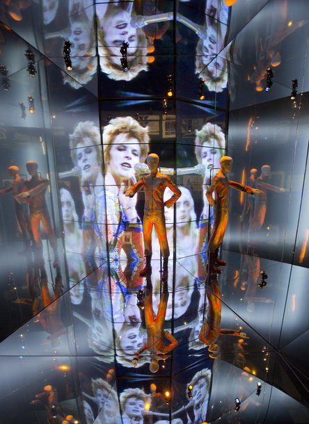 David Bowie is V&A exhibition installation
