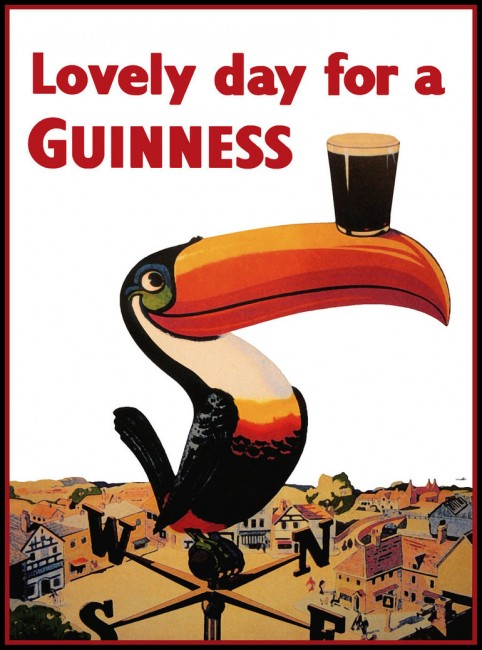 Lovely Day For a Guinness retro poster